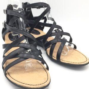 NWOB B.O.C. Black Gladiator Sandals